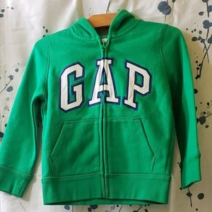 Gap logo  Boys hoodie zippered sweater